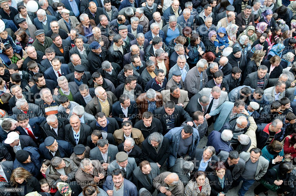 Crowd in a Political Meeting stock photo