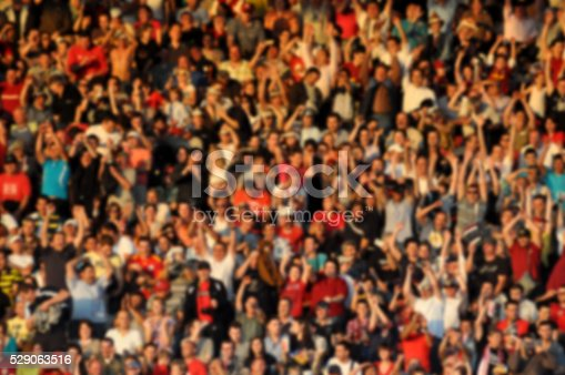 istock Crowd in a stadium. Blurred heads and faces of spectators 529063516