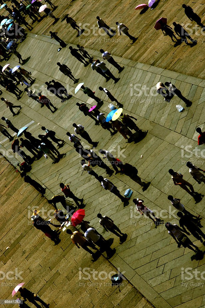 Crowd in Beijing royalty-free stock photo