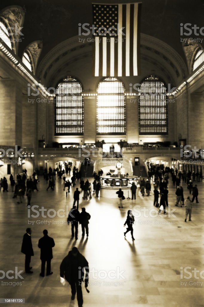 Crowd in Grand Central Terminal royalty-free stock photo