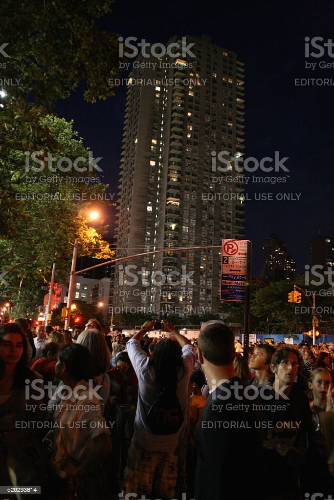 Crowd in New York stock photo