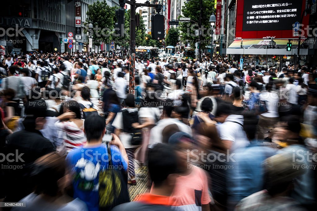 Crowd in Tokyo stock photo