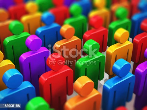 688372024istockphoto Crowd of color human figures 185905158