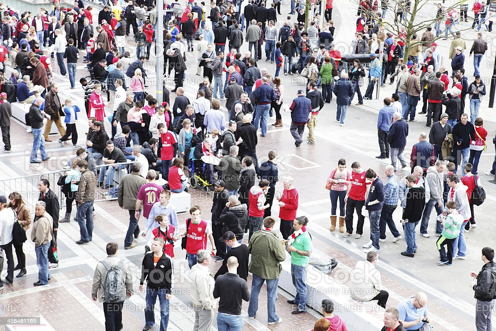 Crowd of Football Fans stock photo