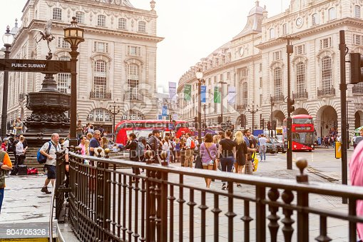 istock Crowd of people at Piccadilly Circus in London 804705326