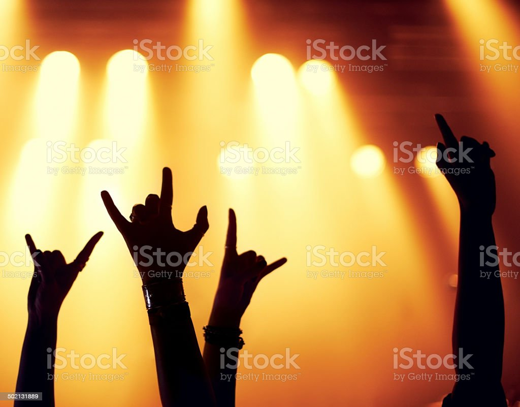 Put your hands in the air! stock photo