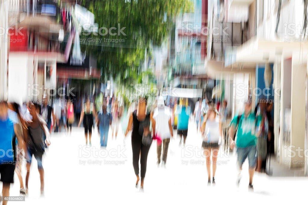 Foule sur la rue de Achats photo libre de droits