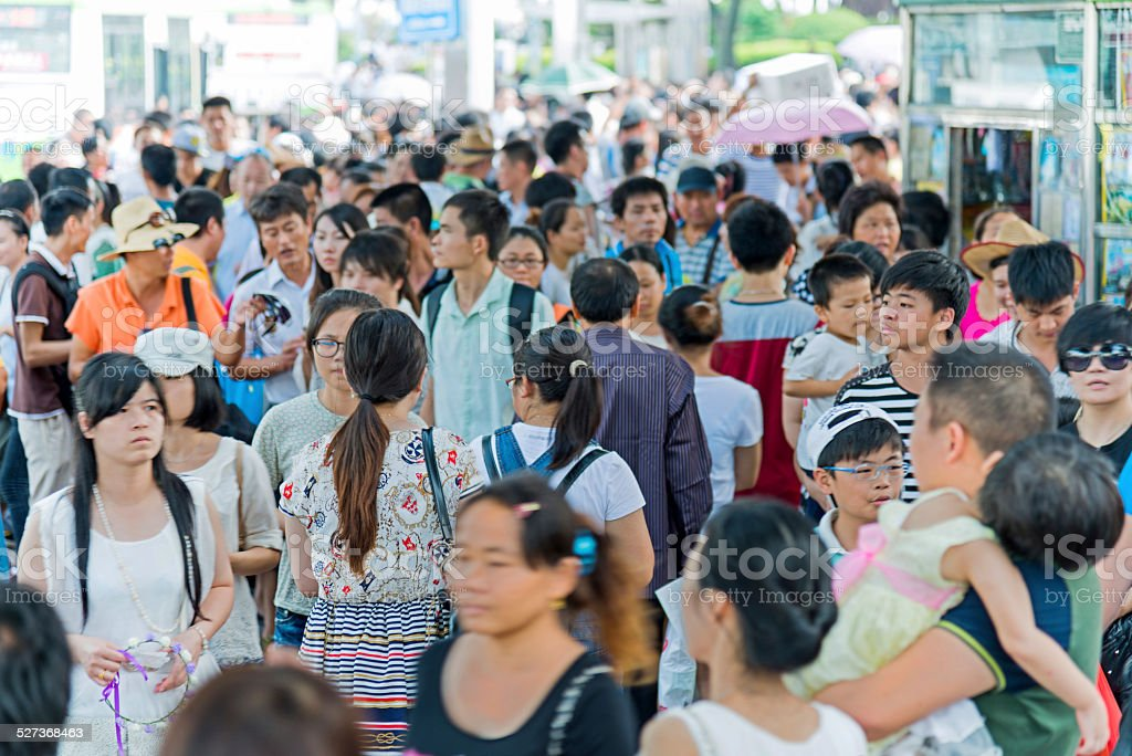 Crowd of people stock photo
