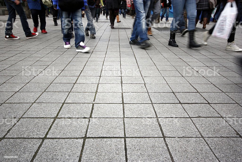 Crowd of Shoppers stock photo
