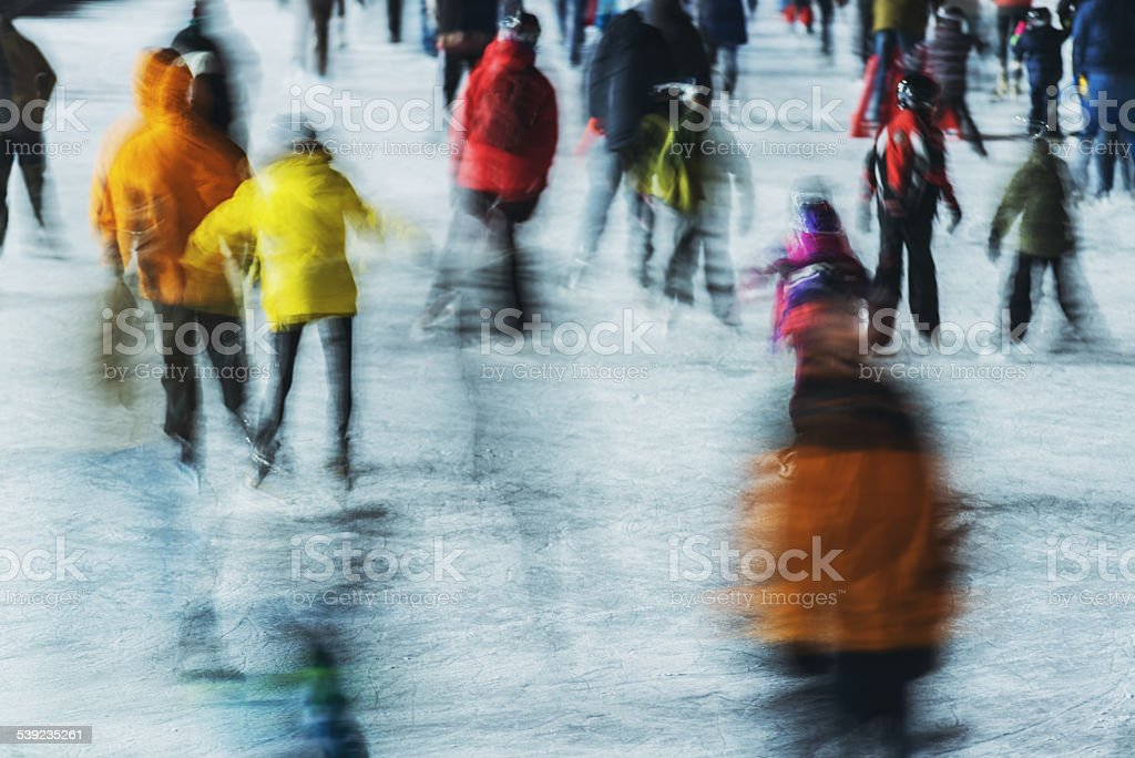 Crowd of Skaters royalty-free stock photo