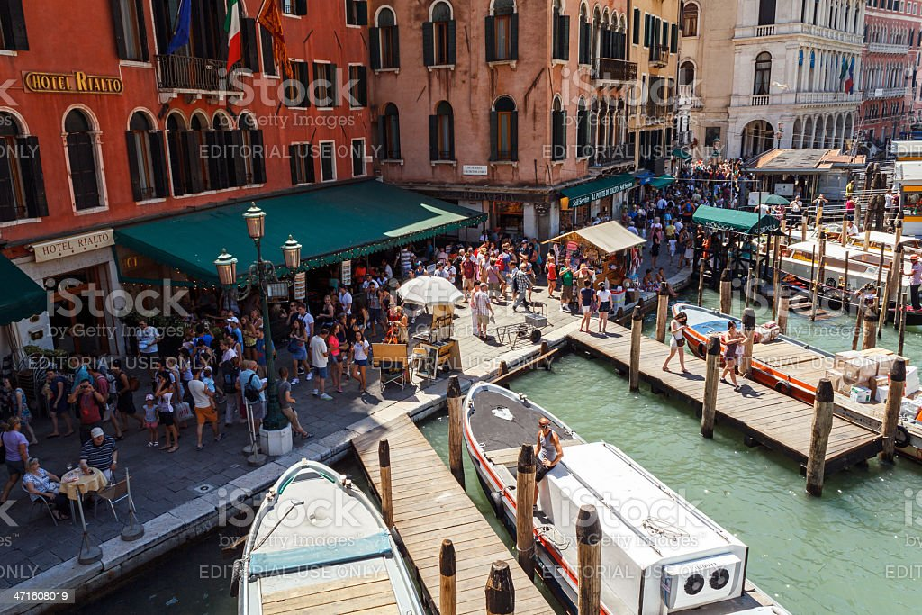 Crowd of tourist near Grand Canal. royalty-free stock photo