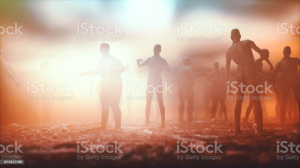 Multitud de zombies - foto de stock