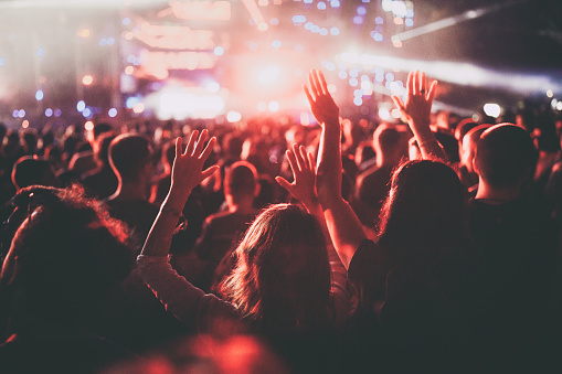 Crowd on a music festival!