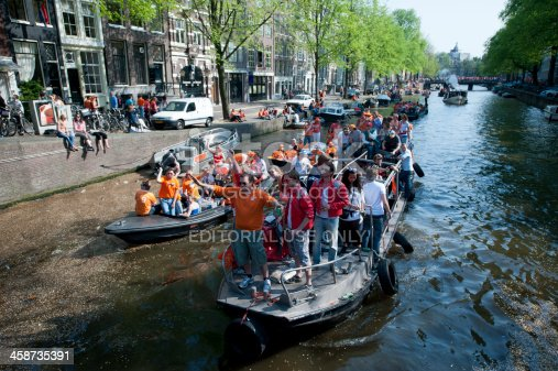 istock Crowd on Boat Celebrating Queensday 458735391