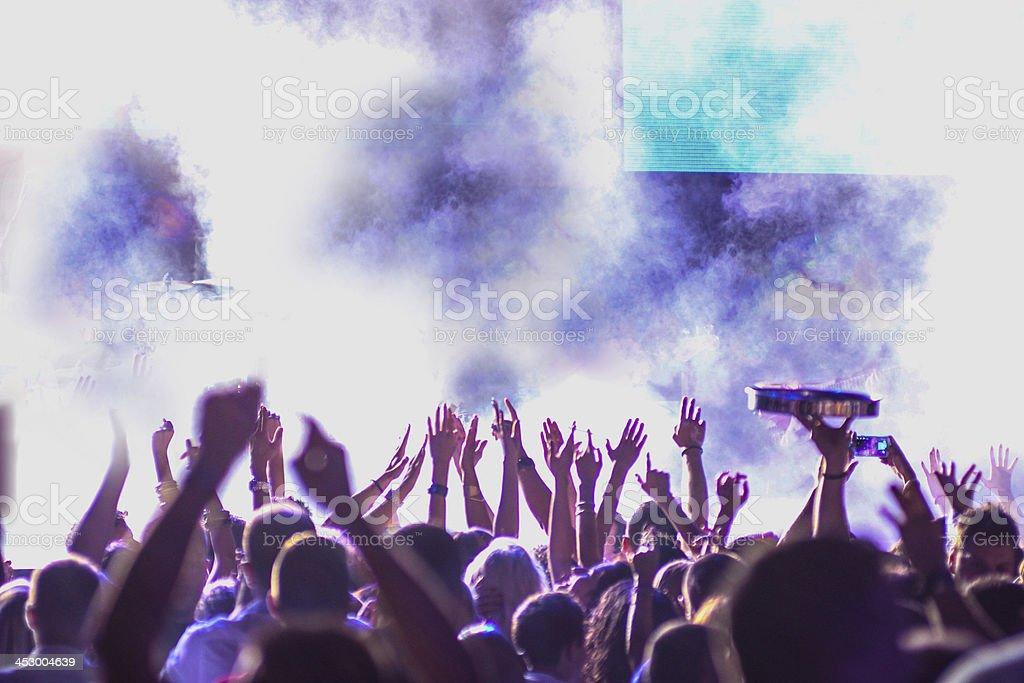 Crowd on concert stock photo