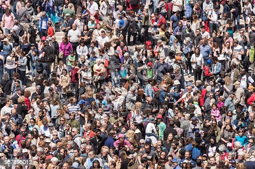 istock Crowd on Place des Arts in Montreal 987595012