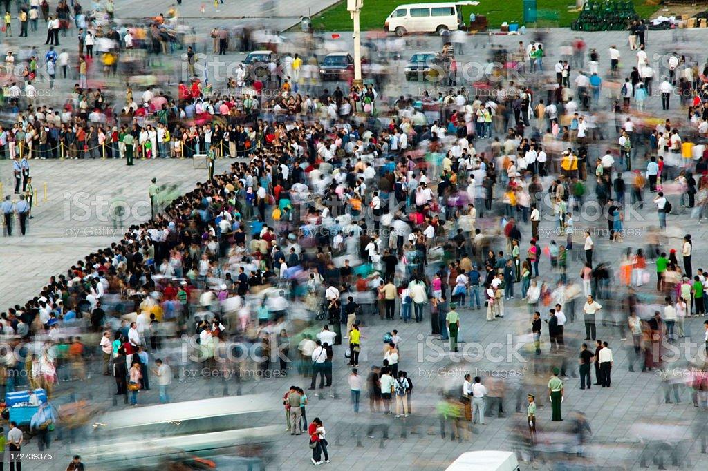 Crowd on Tiananmen Square royalty-free stock photo