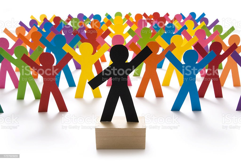 Crowd pleaser royalty-free stock photo