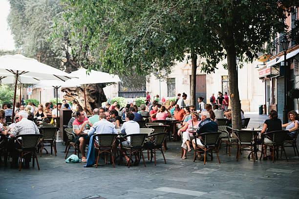 Crowd seated outside restaurant in palma majorca picture id496703757?b=1&k=6&m=496703757&s=612x612&w=0&h=wfngnofrbwyzcqbkwox t9eoetziknafixu8xhwji38=