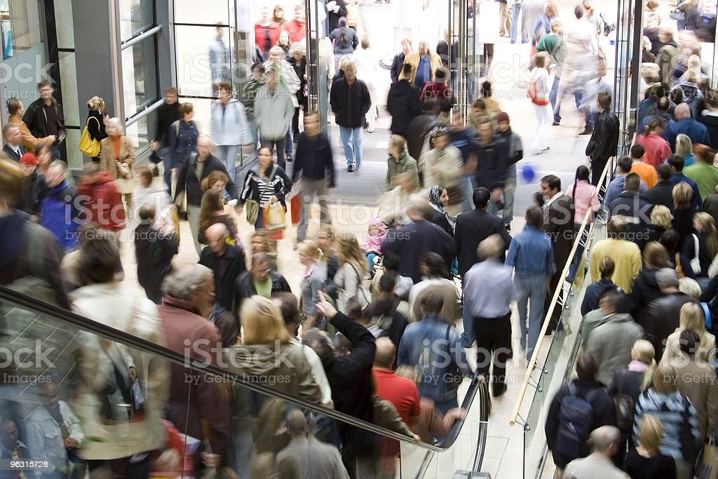 crowd shopping royalty-free stock photo