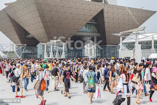 istock Crowd that gathered at the 86th Comic Market 469657816