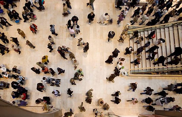 Menschenmenge topshot – Foto