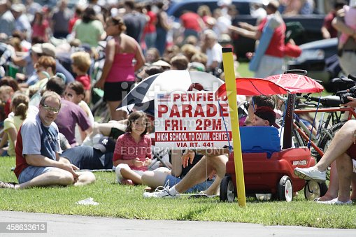 istock Crowd Waiting for July 4th Parade 458633613