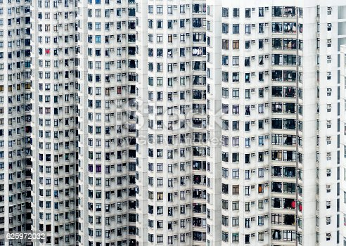 istock Crowded apartment block in Hong Kong 625972032