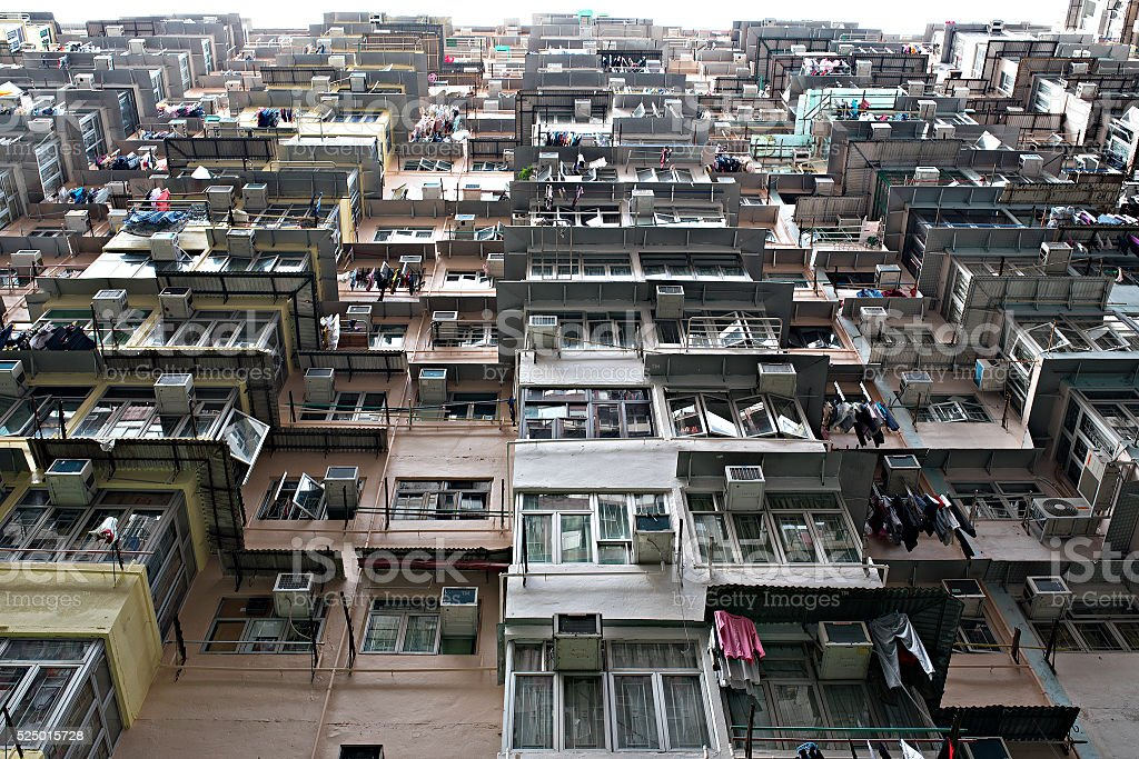 Crowded Apartments In Hong Kong Royalty Free Stock Photo