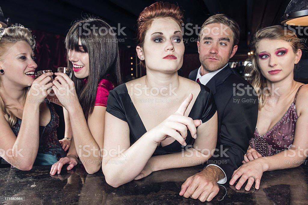 Crowded Bar stock photo