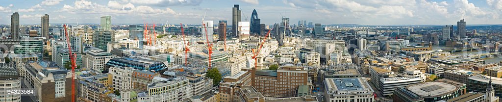 Crowded cityscape, London royalty-free stock photo
