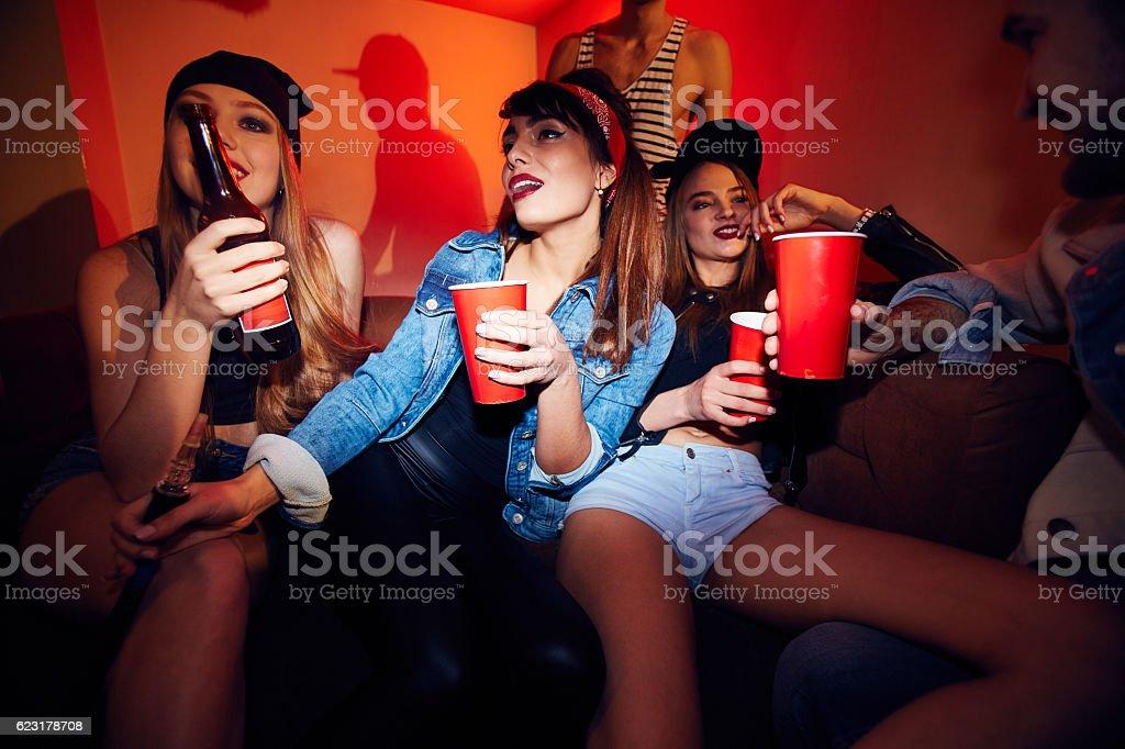 Crowded Corner in Club stock photo