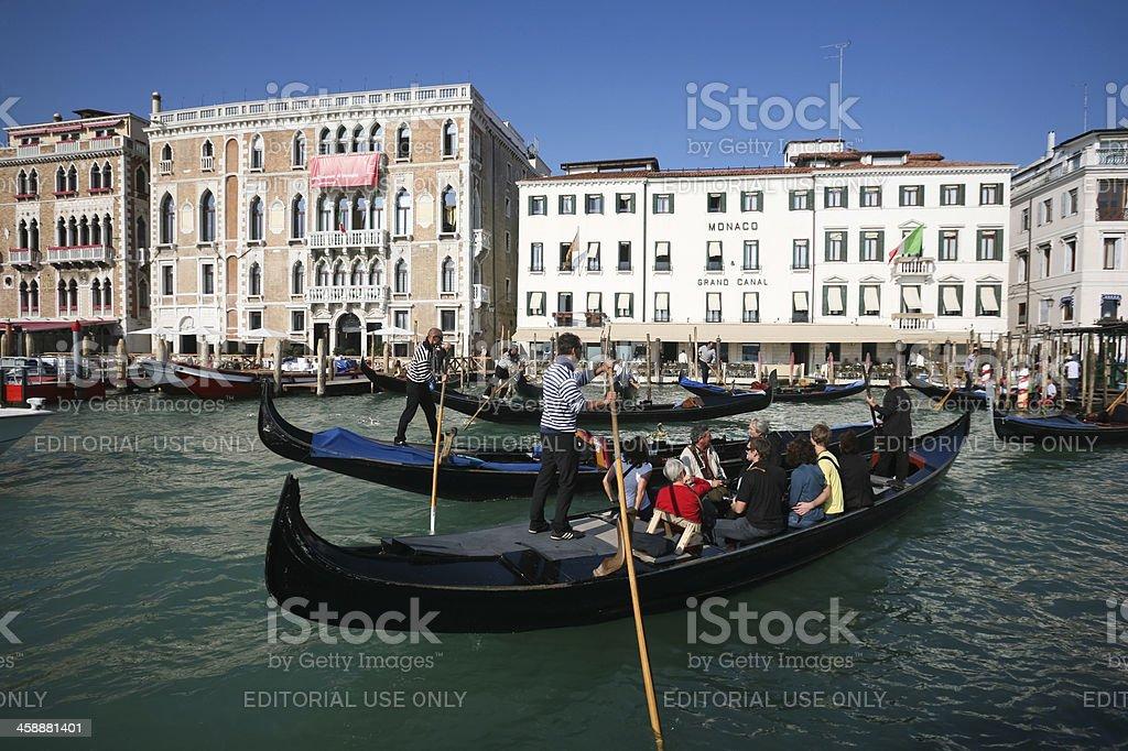 crowded gondolas royalty-free stock photo