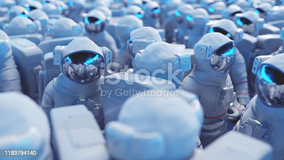Crowded group of astronauts