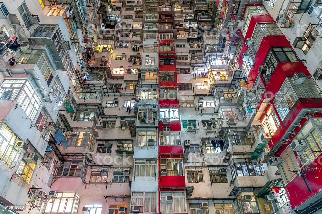 Crowded Hong Kong stock photo