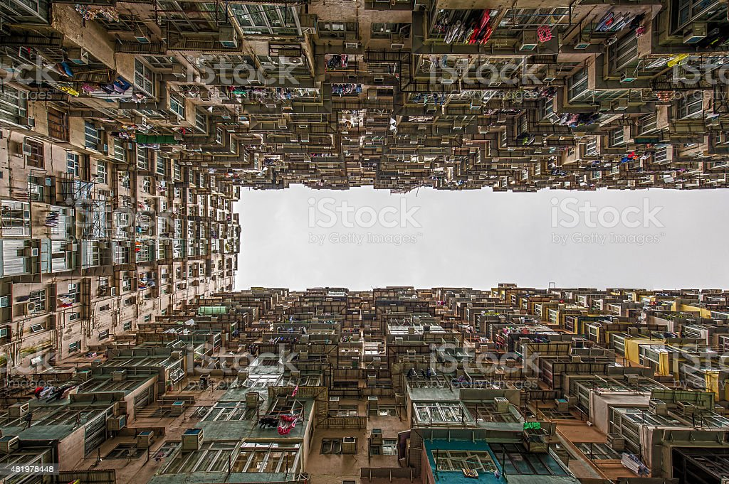 Beengt Wohnung in Hongkong – Foto