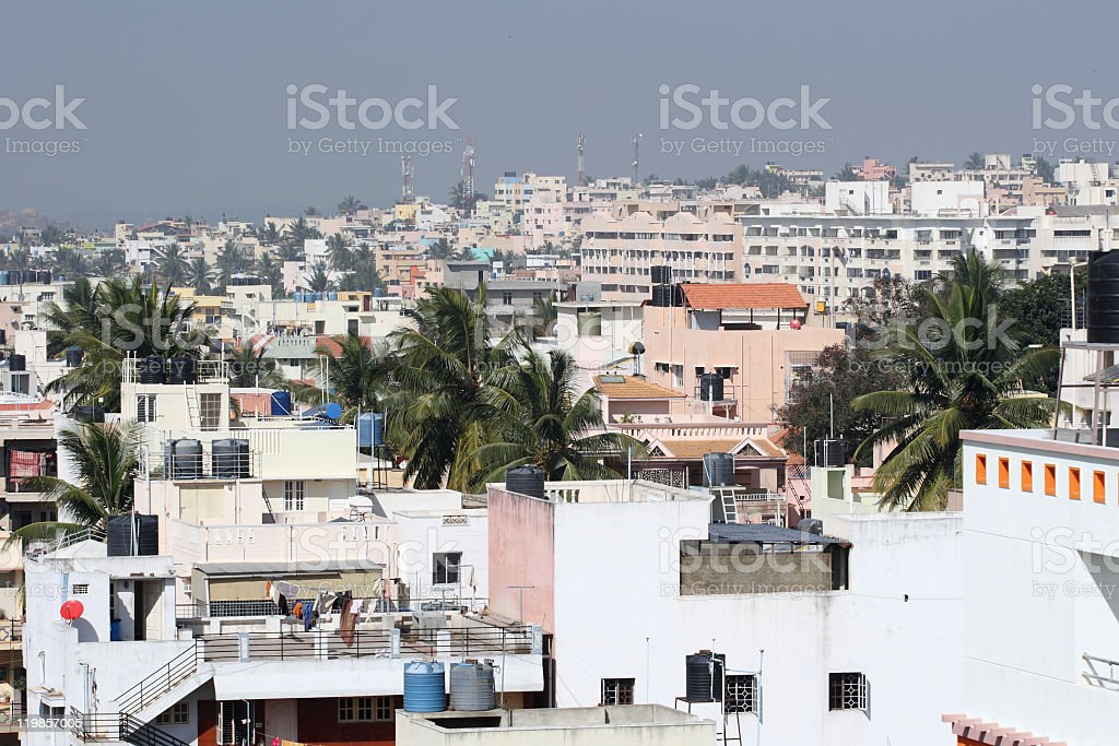 Crowded India residential area royalty-free stock photo
