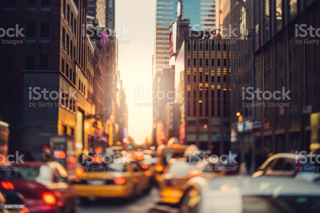 Crowded Manhattan stock photo