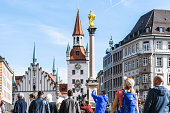 istock Crowded Marienplatz in Munich with Old Town Hall 1177434229