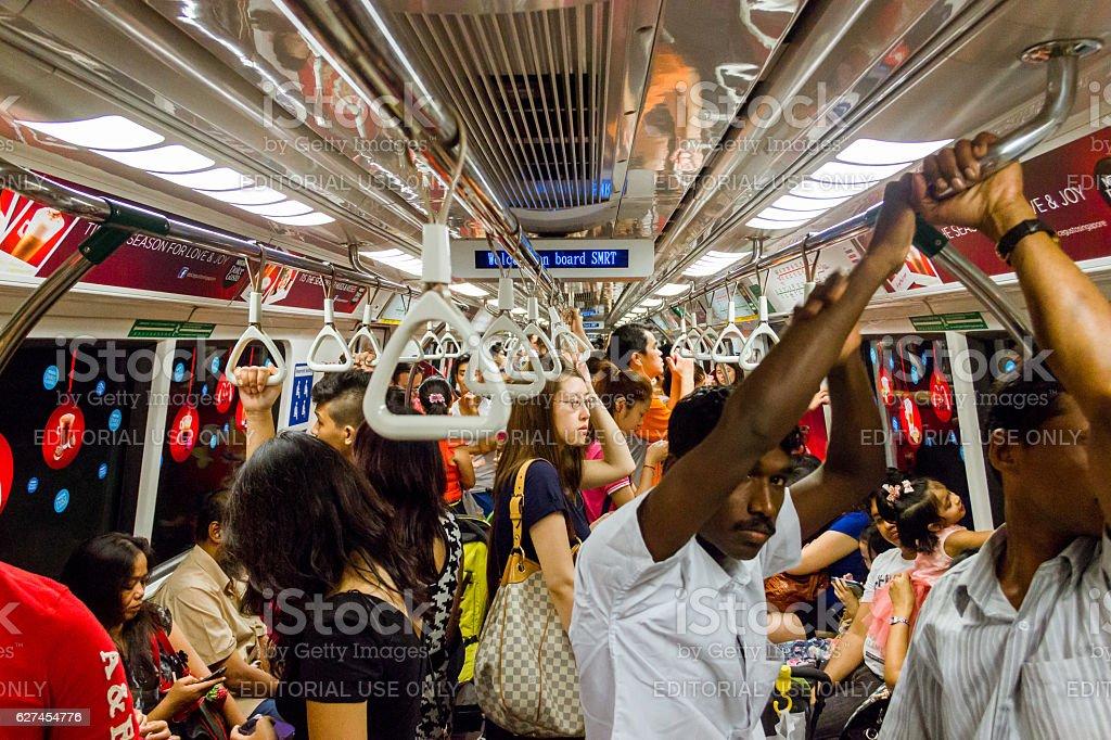 Crowded MRT stock photo