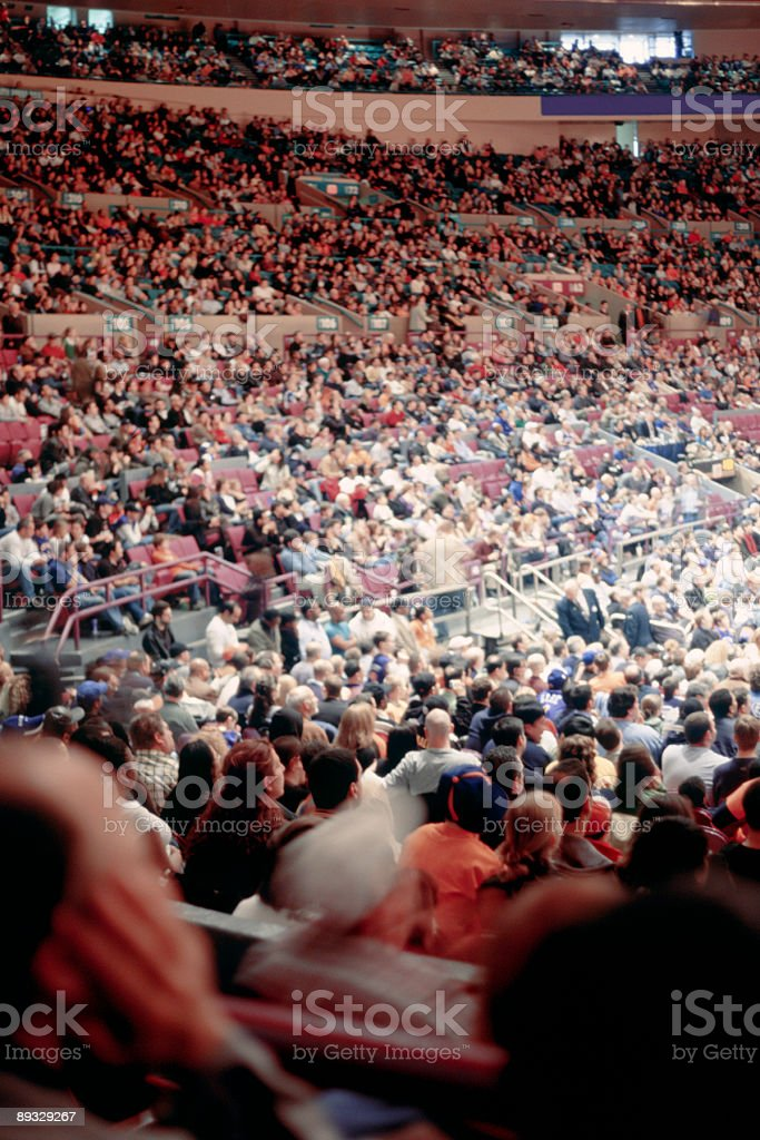 Crowded New York Arena - Thousands of Spectators stock photo