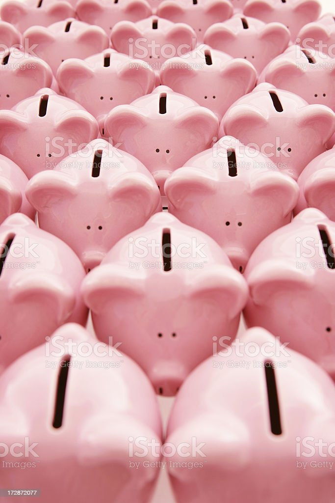 Crowded Piggybanks royalty-free stock photo