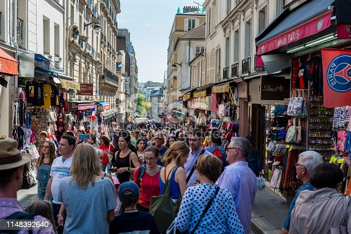 crowded street in Paris
