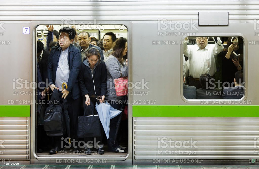 Crowded Subway stock photo