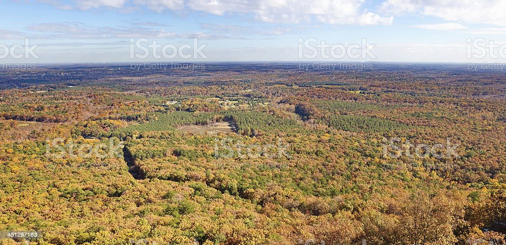 Crowders Mountain Overlook Panorma stock photo