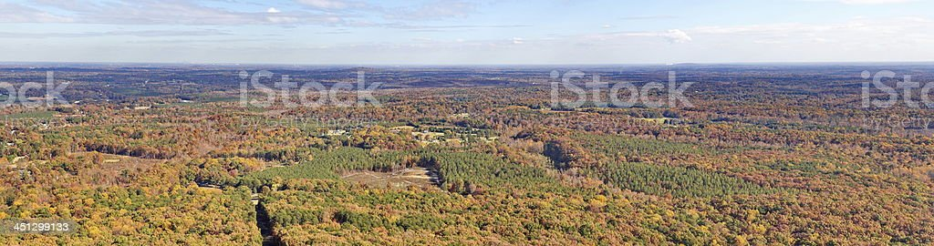 Crowders Mountain Overlook Panorma royalty-free stock photo