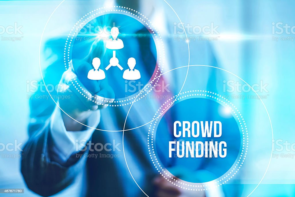 Crowdfunding business concept stock photo