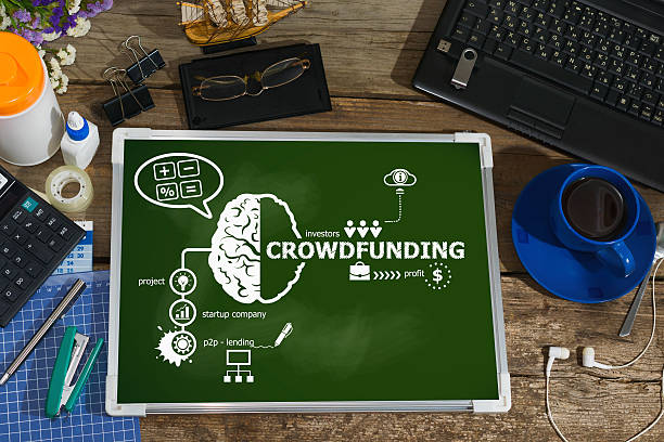 Crowdfunding design concepts for business, consulting, finance stock photo