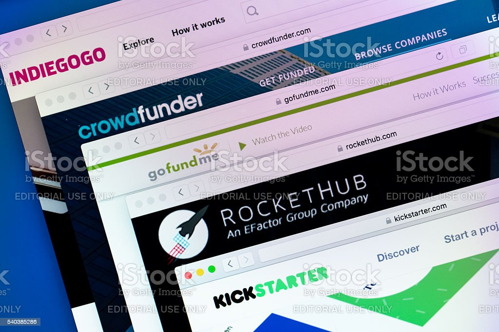 Crowdfunding Websites stock photo