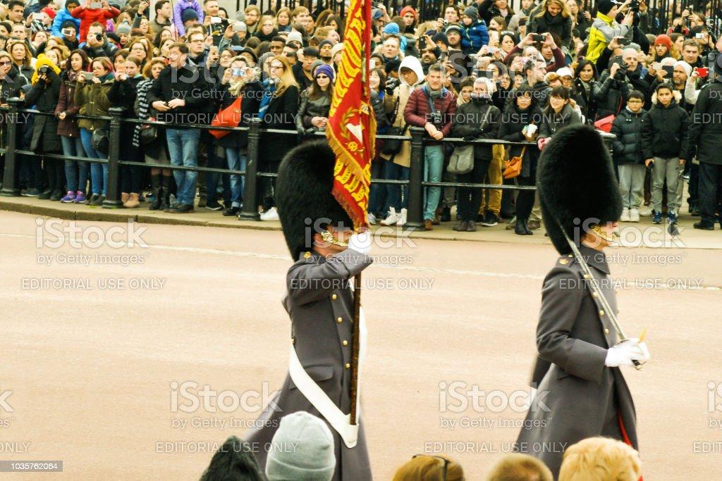 London Uk February 25 2016 Crowds Gathered Watching The